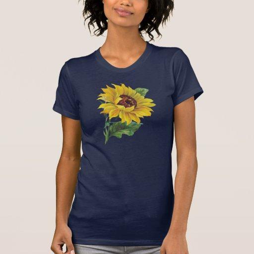 Golden Sunflower Tee Shirts