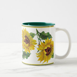 Golden Sunflower Two-Tone Coffee Mug