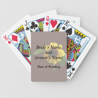 Golden Sunflower Wedding Products Bicycle Playing Cards