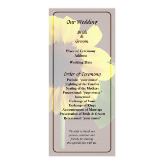 Golden Sunflower Wedding Program