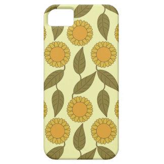 Golden Sunflowers Pattern iPhone 5 case