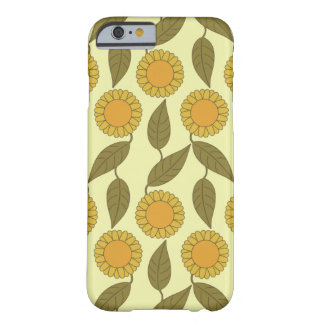 Golden Sunflowers Pattern iPhone 6 case