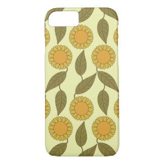 Golden Sunflowers Pattern iPhone 7 case