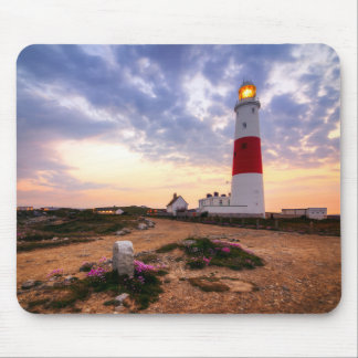 Golden Sunrise At Portland Bill Lighthouse Mouse Pad