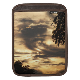 Golden Sunrise in the Clouds iPad sleeve