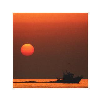Golden Sunrise, Malta Canvas Print