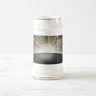 Golden Sunrise Sunset Planet Beer Stein