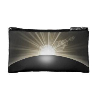 Golden Sunrise Sunset Planet Cosmetic Bag
