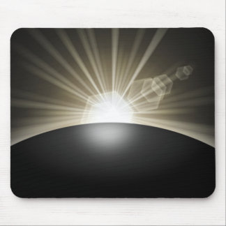 Golden Sunrise Sunset Planet Mouse Pad