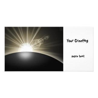 Golden Sunrise Sunset Planet Photo Greeting Card