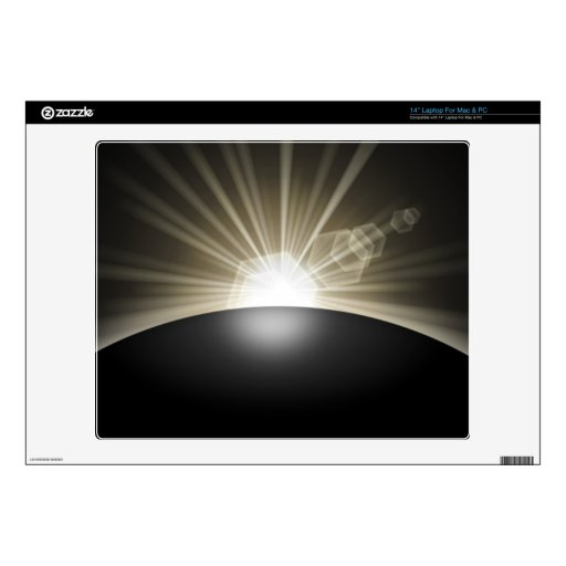 Golden Sunrise Sunset Planet Laptop Decals