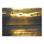 Golden Sunset 5x7 Paper Invitation Card