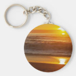 Golden Sunset at Horsfall Beach Keychains