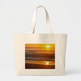Golden Sunset at Horsfall Beach Large Tote Bag