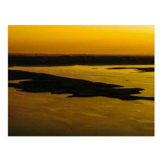 Golden Sunset at Lake Travis Postcard