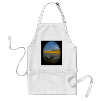 GOLDEN SUNSET AT THE LAKE ADULT APRON