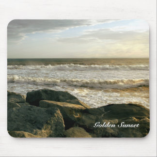 Golden Sunset at White Point Beach Mousepad