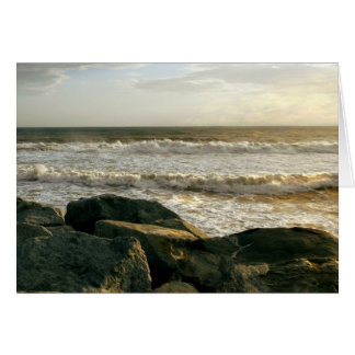Golden Sunset at White Point Beach Sympathy Card