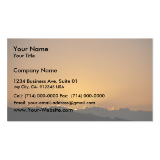 Golden Sunset Behind The Mountains Double-Sided Standard Business Cards (Pack Of 100)