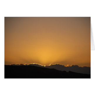 Golden Sunset Behind The Mountains Greeting Card