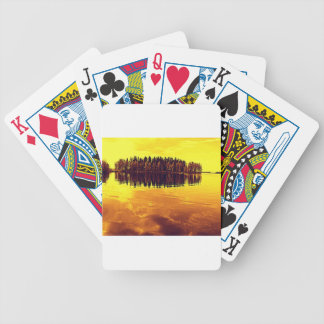 Golden Sunset Bicycle Playing Cards