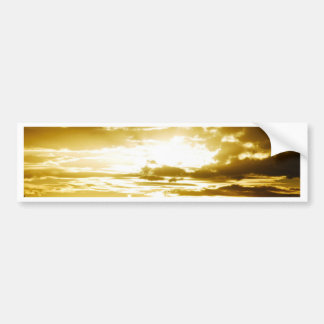 Golden Sunset Bumper Sticker