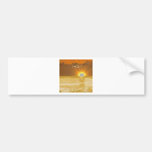 Golden Sunset Bumper Sticker