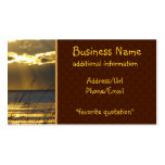 Golden Sunset Double-Sided Standard Business Cards (Pack Of 100)