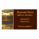 Golden Sunset Business Card Templates