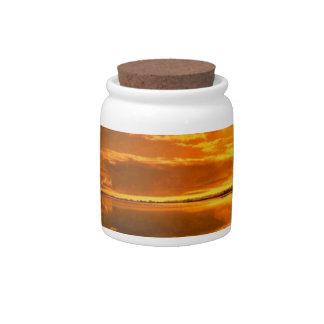 Golden sunset Candy Jar