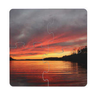 Golden Sunset Coaster Puzzle