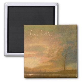 Golden sunset/ Happy Birthday Magnet