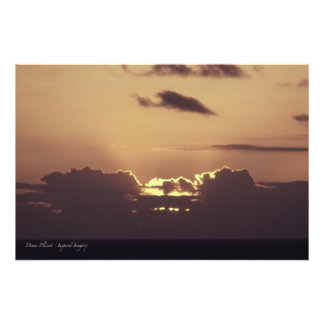 Golden Sunset in Hawaii Photographic Print