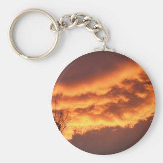 Golden Sunset Keychain