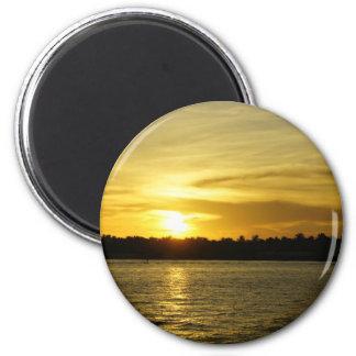 Golden Sunset Magnets