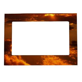 Golden Sunset Magnetic Photo Frame