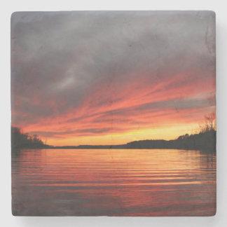 Golden Sunset Marble Coaster