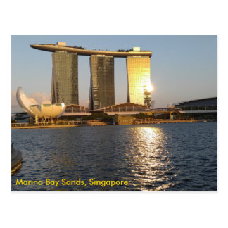 Golden Sunset Marina Bay Sands, Singapore Postcard