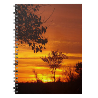 Golden Sunset Notebook
