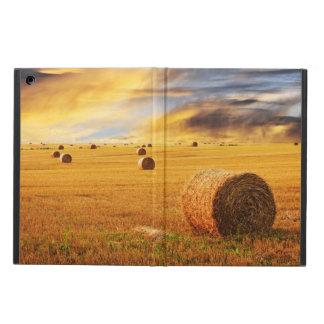 Golden Sunset Over Farm Field iPad Air Case