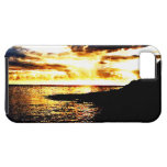 Golden Sunset Over the Water in Dominica iPhone 5 Covers