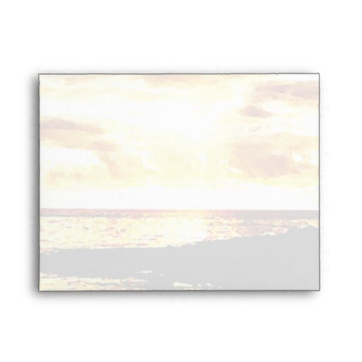 Golden Sunset Over the Water in Dominica Envelopes