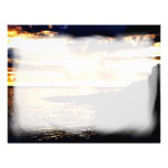 Golden Sunset Over the Water in Dominica Letterhead Template