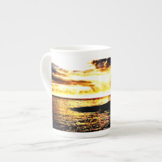 Golden Sunset Over the Water in Dominica Tea Cup