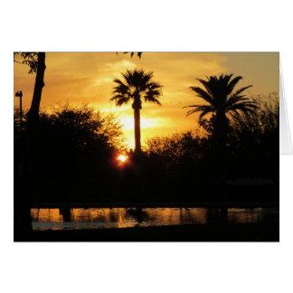 Golden Sunset Over Tucson Card