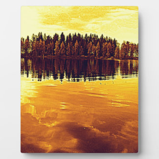 Golden Sunset Plaque