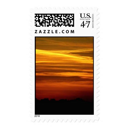 Golden Sunset postage stamps
