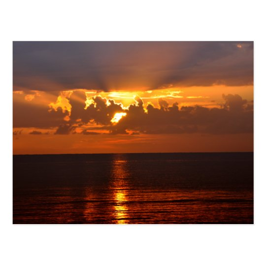 golden sunset postcard
