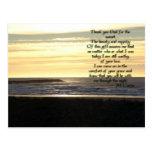 Golden Sunset Prayer Postcard