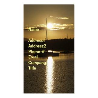 Golden Sunset/Sailboat Business Card